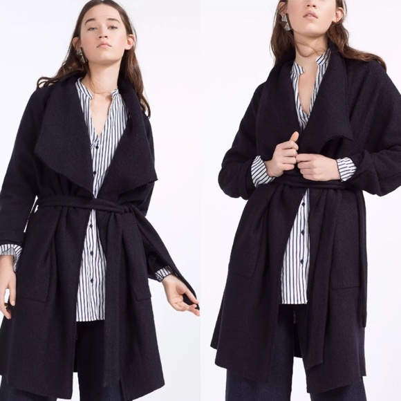 coat one coats trench last asymmetrical jackets m drape draped poshmark listing drapes