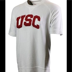 Heritage Tops - USC short sleeve fleece embroidered top XL GUC