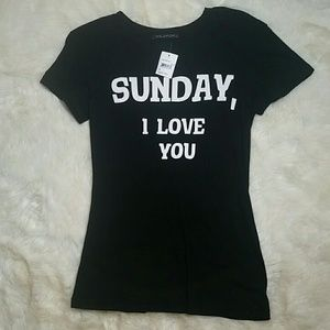 Wildfox Couture Tops - Wildfox NWT Sunday I Love You Shirt Size Small