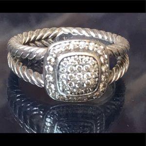 David Yurman Jewelry - David Yurman Pave Diamond Petite Albion Ring- 7.5