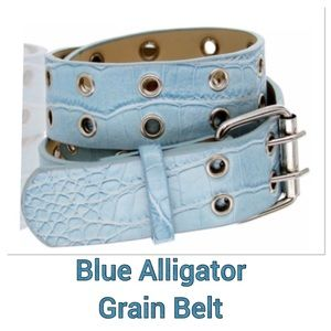 Leather Alligator Grain Belt
