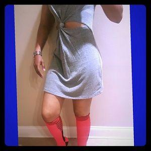 Audrey 3+1 Dresses & Skirts - SUNDAY SALE 💌💚Audrey cut out knot tshirt dress