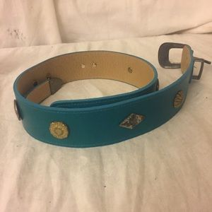 Vintage Accessories - Vintage Turquoise/Silver Native American Belt