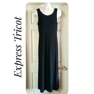 Black Knit Express Tricot Tank Dress