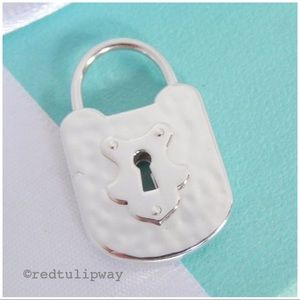 Auth. Tiffany & Co. Large Vintage Lock, Never Worn