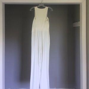 AQ/AQ Pants - AqAq White/cream Crane jumpsuit