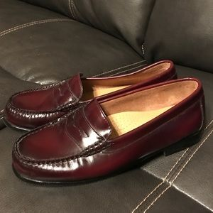 Bass Weejuns Shoes - Women's Maroon/Red Bass Leather Weejuns Loafers