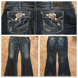 "Silver Jeans Denim - Silver Jeans ""Suki Surplus"" Size 24 Plus"