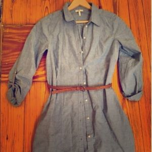 Joie Tarellia Belted Button Down Shirt Dress