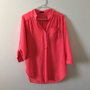 Tops - Hot Pink Button Down
