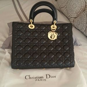Black quilted Designer Inspired Handbag