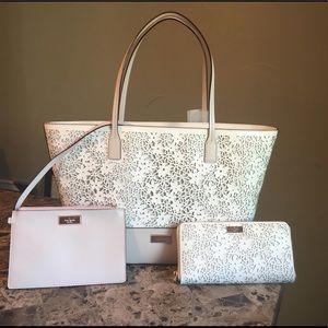 Kate Spade Bradford Court Tote Handbag Bag+ Wallet
