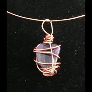 Incredible Semi-Precious Stone Wrapped in Copper🌺