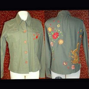 Pink soda Jackets & Blazers - PINK SODA green military style jacket UK 16