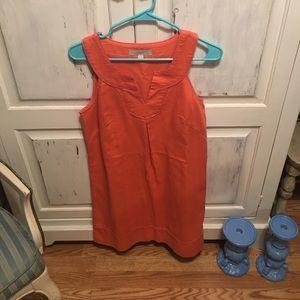 Loft, coral orange shift dress!