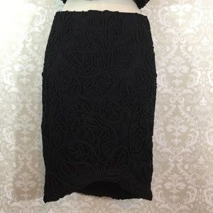 Dresses & Skirts - Sexy Black Mesh Lined Pencil Skirt