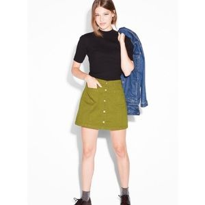 Monki Olive Green Pencil Skirt Size 8