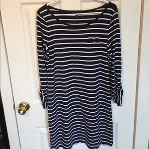 GAP Dresses & Skirts - GAP Navy & White Striped Dress, Size M