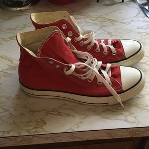 Converse Shoes - Red high top converse sneakers
