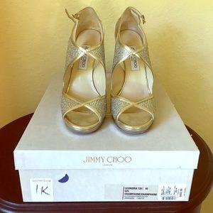 Jimmy Choo Shoes - Jimmy Choo champagne Leondra heels size 40 (10US)