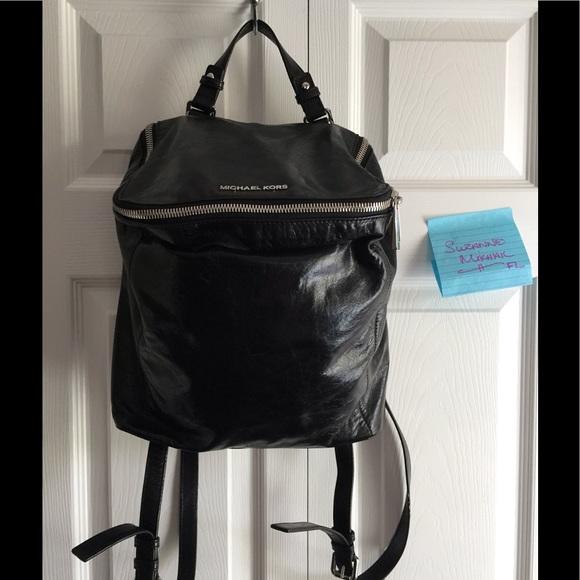 a8ec25298e4a Michael Kors Lisbeth backpack in black. M_592adc646802789bb8003c22