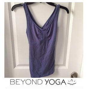 Beyond Yoga Tops - Beyond Yoga Pale Purple Cross Strap Tank