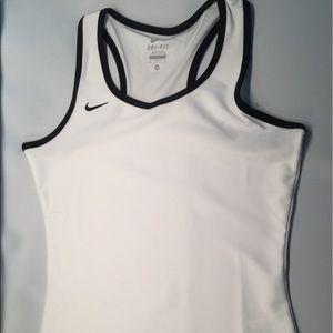 Nike Tops - Nike Dri-Fit White Workout Running Tank Size M & L
