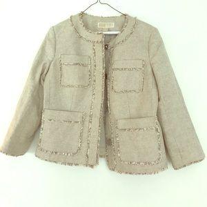 Michael Kors Jackets & Blazers - Michael Kors beige linen/cotton jacket