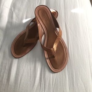 Schultz Shoes - Bronze leather sandals by Schultz. Size 10.