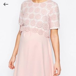 ASOS Maternity Dresses & Skirts - ASOS Maternity Lace Double Layer Aline Dress 👗💫