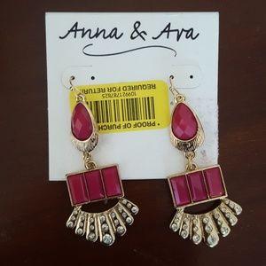 Anna & Ava Jewelry - Pink Drop Earrings NWT