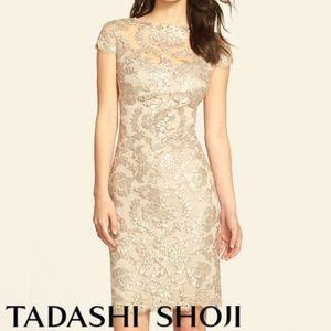Tadashi Shoji Dresses & Skirts - Tadashi Shoji Embellished Lace Sheath Dress • NWT