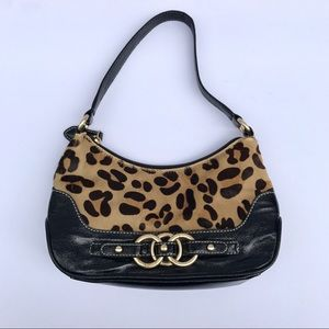 Wilsons Leather Handbags - {wilsons leather} black and leopard print purse