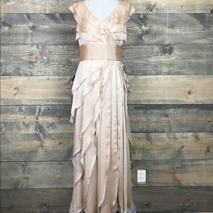 Adrianna Papell Dresses & Skirts - ✅SALE ✅Adrianna Papell Tiered Chiffon Gown, Fawn