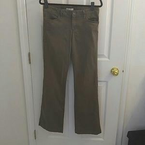 Banana Republic Green Khaki Stretch Pants