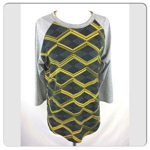 LULAROE RANDY Raglan Honeycomb print UNICORN Sz M