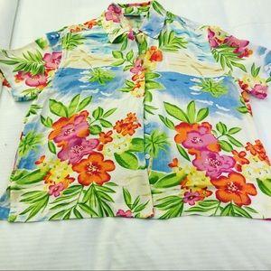 Reclaimed Vintage Tops - Vintage Hawaiian women's shirt