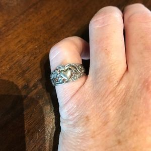 James Avery retired hearts and flowers ring size 5