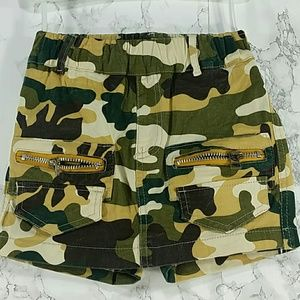 Other - Green Camo Shorts Skort. Kids