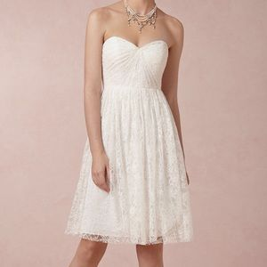 Jenny Yoo Dresses & Skirts - Jenny yoo white lace straples sweetheart dress