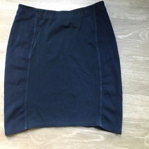 BCBGMaxAzria Dresses & Skirts - BCBG Bodycon Stretch Pencil Skirt Navy Women's L