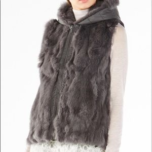 BCBGMaxazria rabbit fur sweater vest
