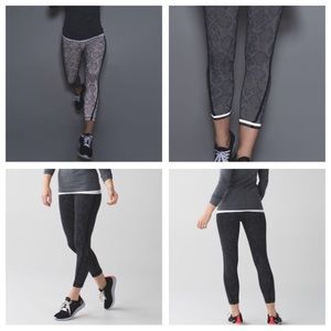 Lululemon Pace Tight-Kill the Lights Reflective, 6