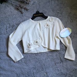 American Princess Other - NWT Off White Shrug