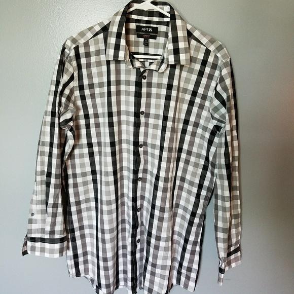 74 off apt 9 other apt 9 slim fit b w dress shirt 16 for Apartment 9 dress shirts