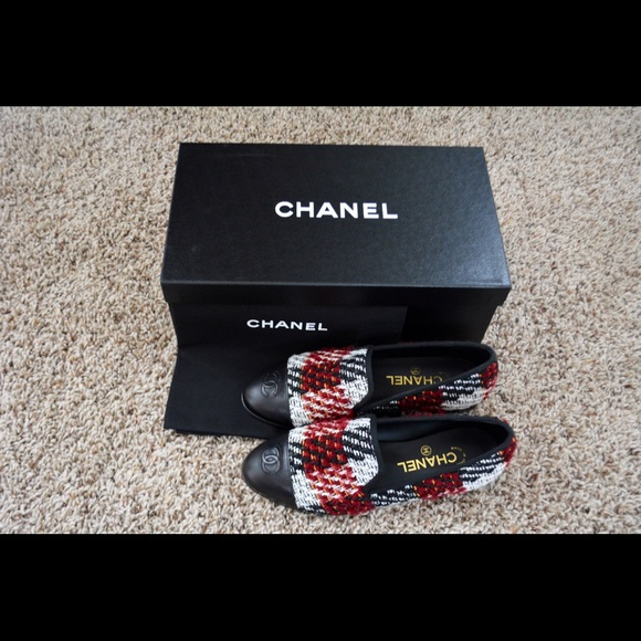 1f810696665 🆕Chanel Tweed Moccasin Loafers🆕