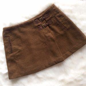 ZARA Wool Buckle Mini Skirt