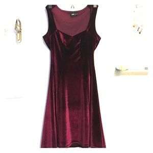 ASOS Burgundy Velvet Mini Dress