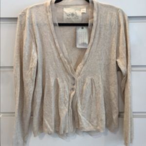 Angel Of The North Sweaters - Natural linen color soft Anthropologie cardigan