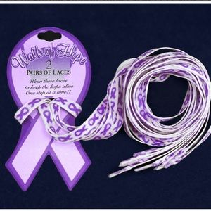 Accessories - 💜💜Purple Ribbon Shoe Laces - 2 pair